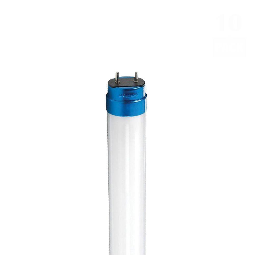 Philips 4 ft. T8 19-Watt Cool White (4100K) Linear LED Light Bulb (10-Pack)
