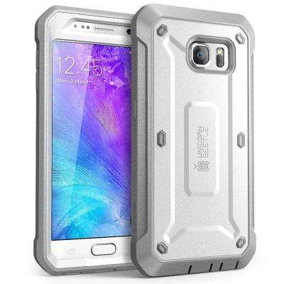 SUPCASE Unicorn Beetle Pro Full-Body Case for Samsung Galaxy S6, White/Gray