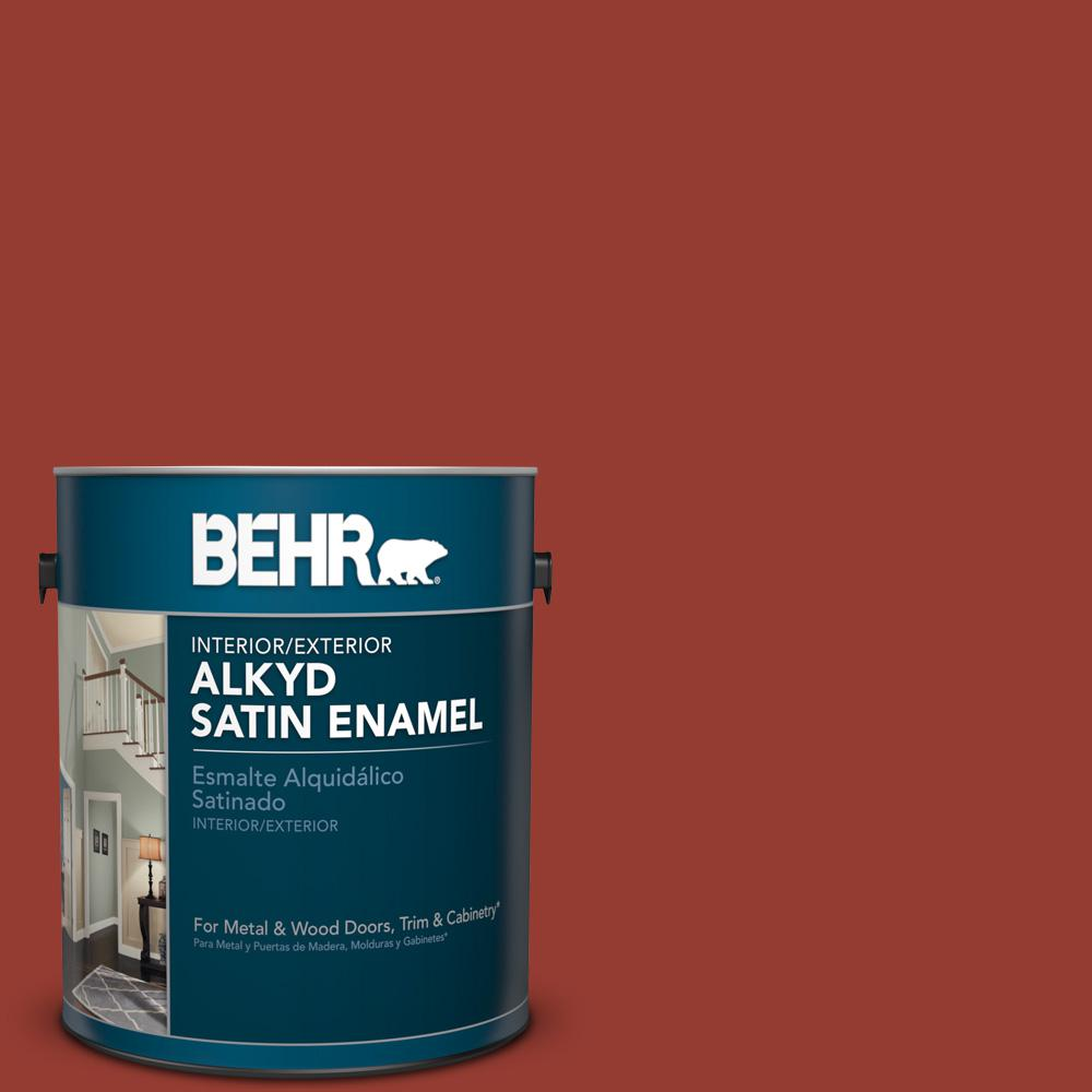 1 gal. #PPU2-17 Morocco Red Satin Enamel Alkyd Interior/Exterior Paint