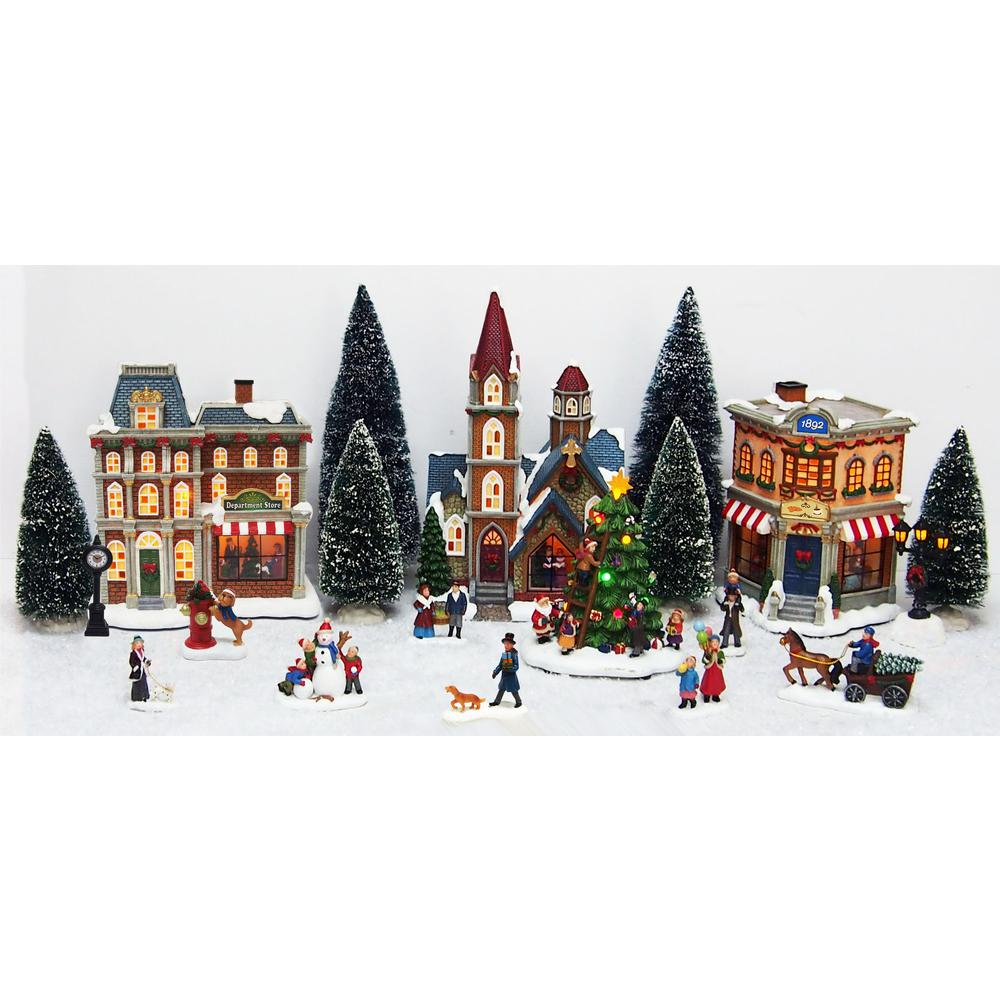 Christmas Village Sets.Home Accents Holiday 12 6 In 20 Piece Christmas Village Scene