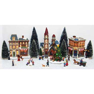 Christmas Villages.Christmas Villages Indoor Christmas Decorations The Home