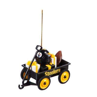 Pittsburgh Steelers 1-3/4 in. NFL Team Wagon Christmas Ornament