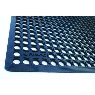 K-Series Comfort Tract Black 3 ft. x 10 ft. x 1/2 in. Grease-Resistant Rubber Kitchen Mat