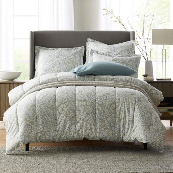 The Company Store Davidson Sateen King Comforter 50386E-K-MULTI