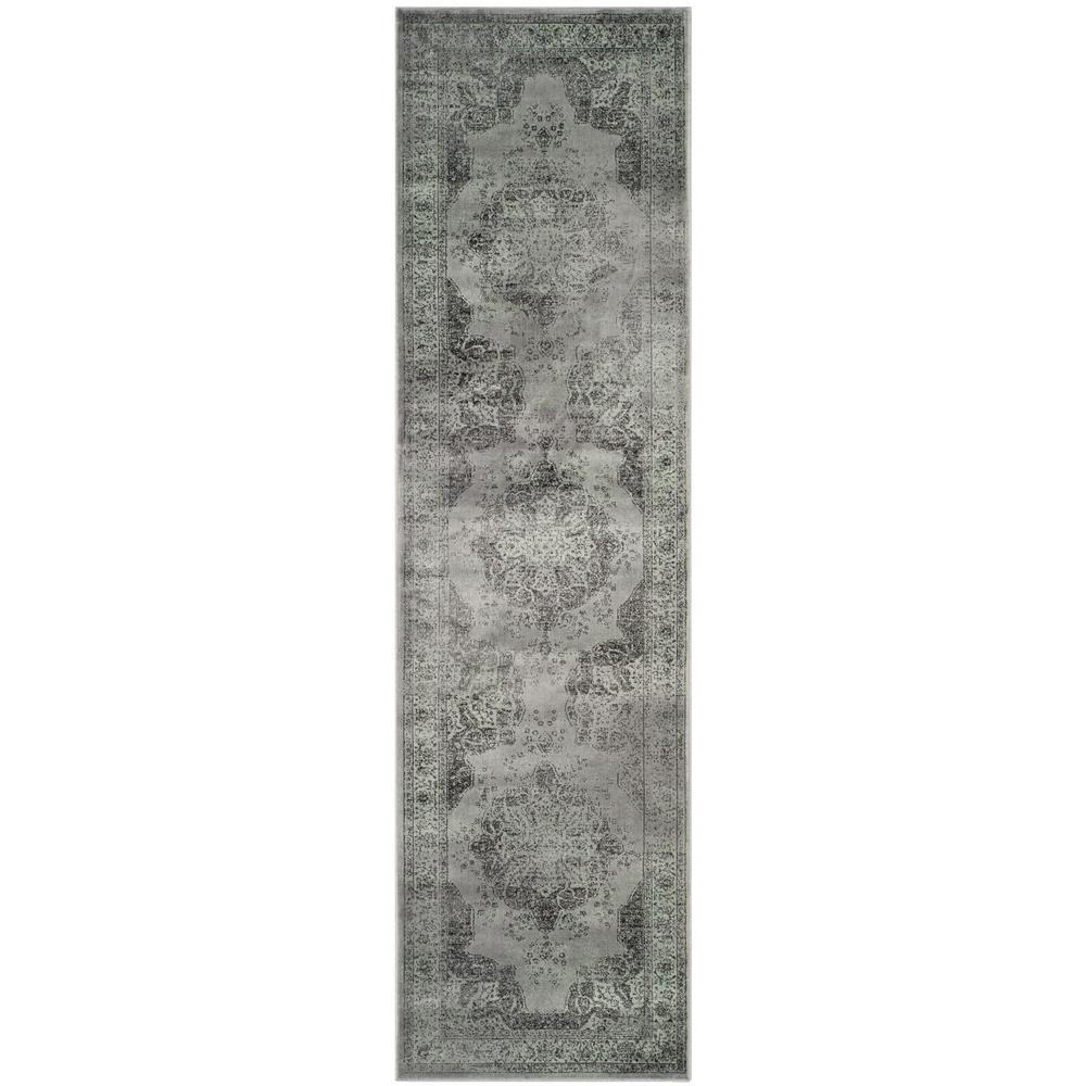 Vintage Gray/Multi 2 ft. x 16 ft. Runner Rug