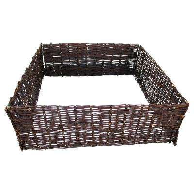 48 in. L 48 in. W 12 in. H Standard Woven Willow Raised Bed (4-Pieces)
