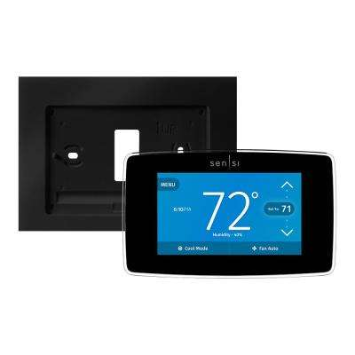 Sensi 7-Day Programmable Touch Wi-Fi Thermostat and Wall Plate Bundle