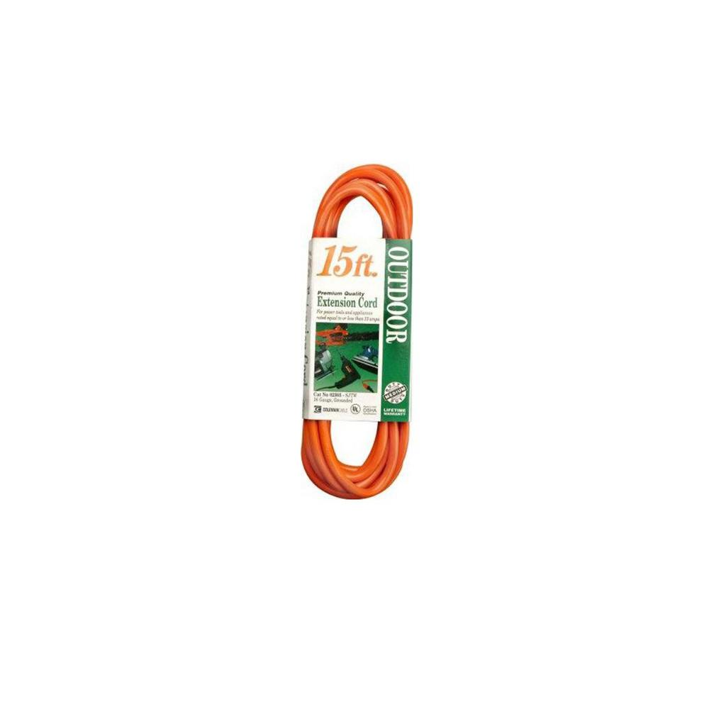 Southwire 100 ft. 16/3 SJTW Outdoor Light-Duty Extension Cord ...