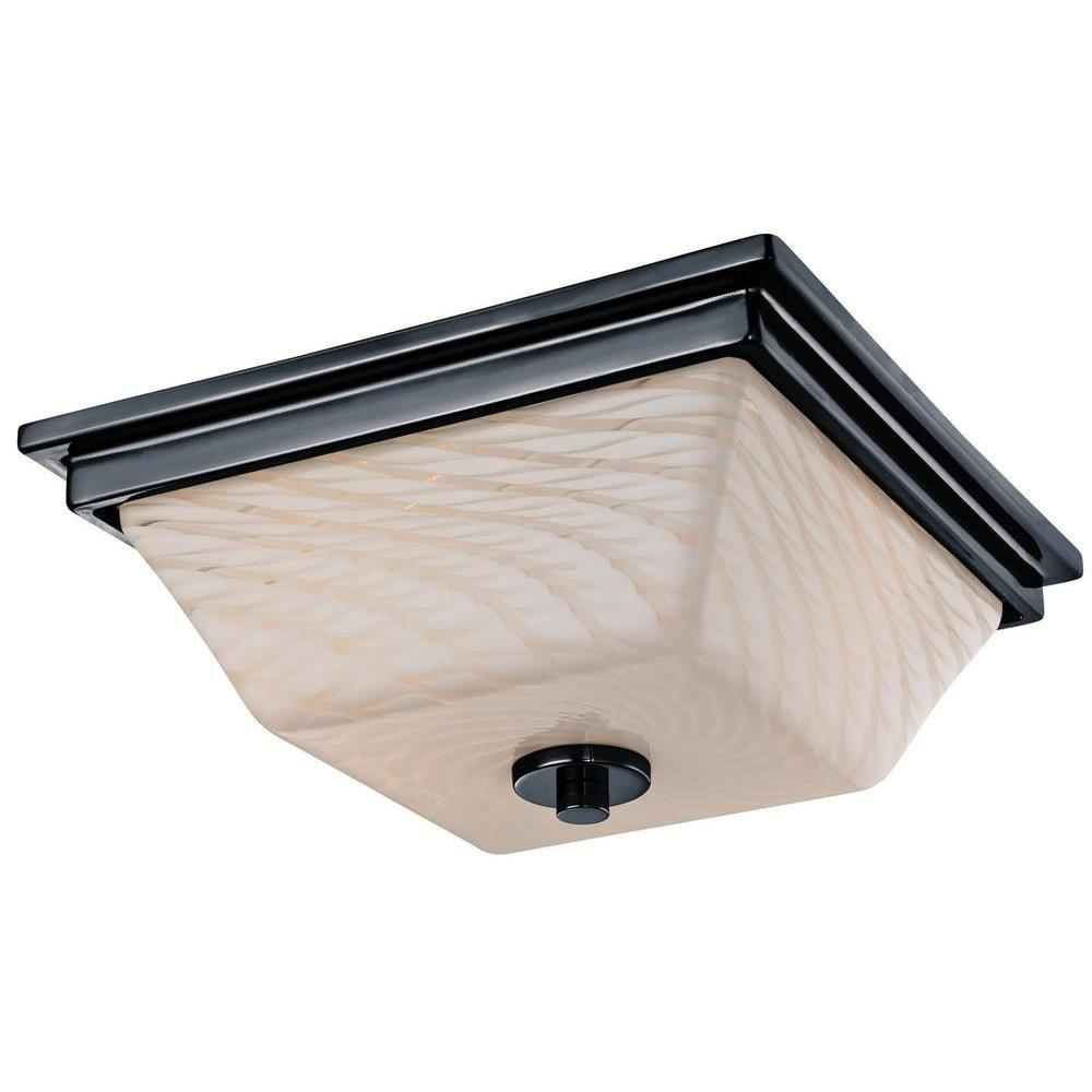 Wilkes 2-Light Gun Metal Flush Ceiling Fixture