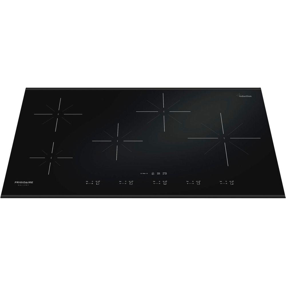 Frigidaire Gallery 36 in. Smooth Ceramic Glass Induction Cooktop in Black with 5 Elements