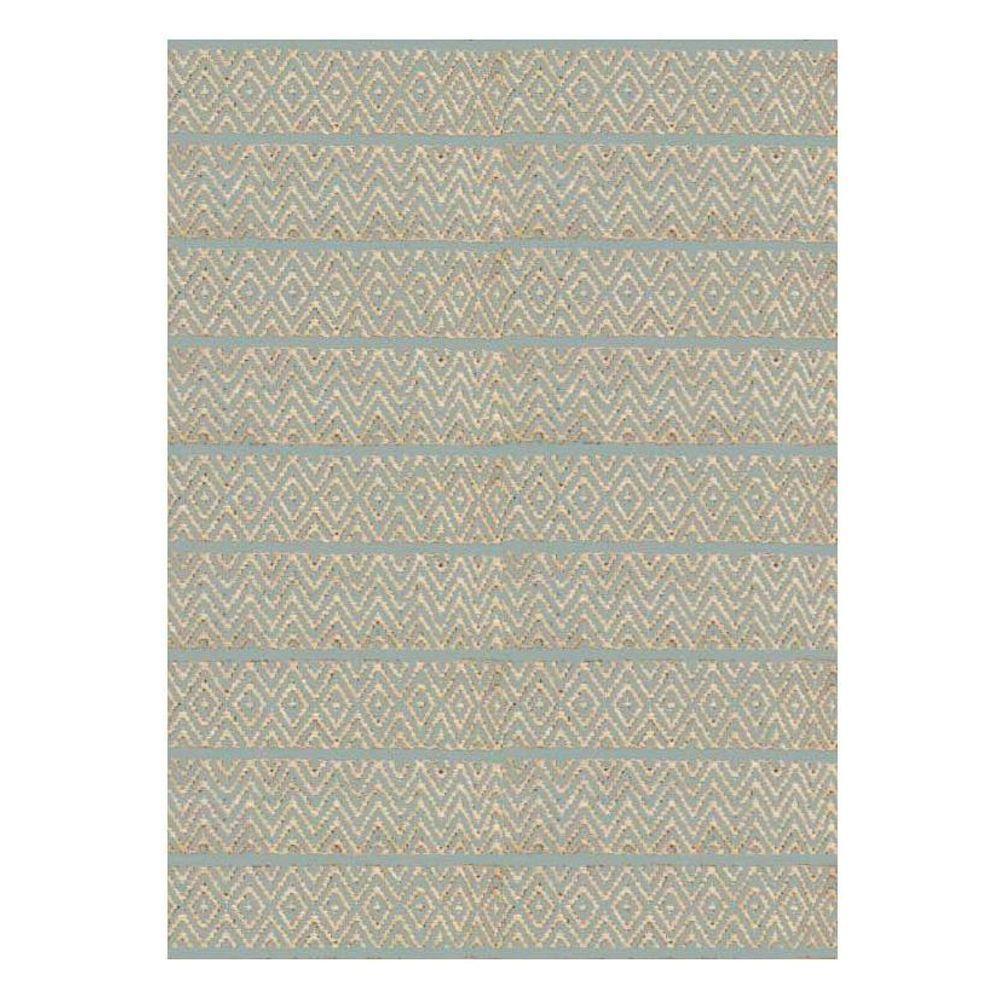 Kas Rugs Diamond Stripe Blue/Beige 3 ft. 3 in. x 5 ft. 3 in. Area Rug