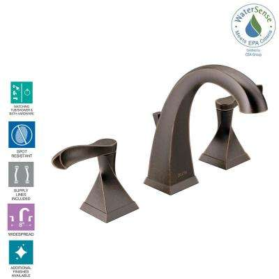 Everly 8 in. Widespread 2-Handle Bathroom Faucet in Venetian Bronze