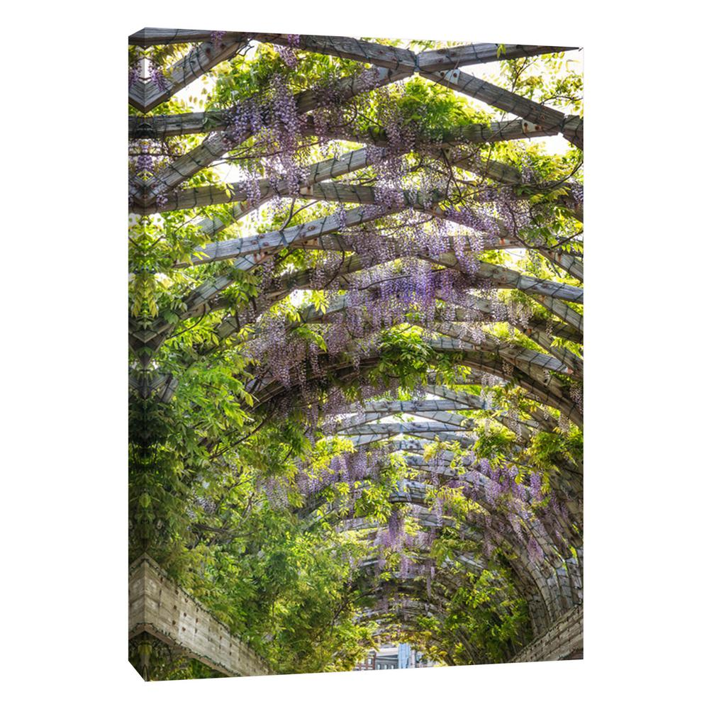 Ptm Images 12 In X 10 In Wisteria Trellis Arch Printed