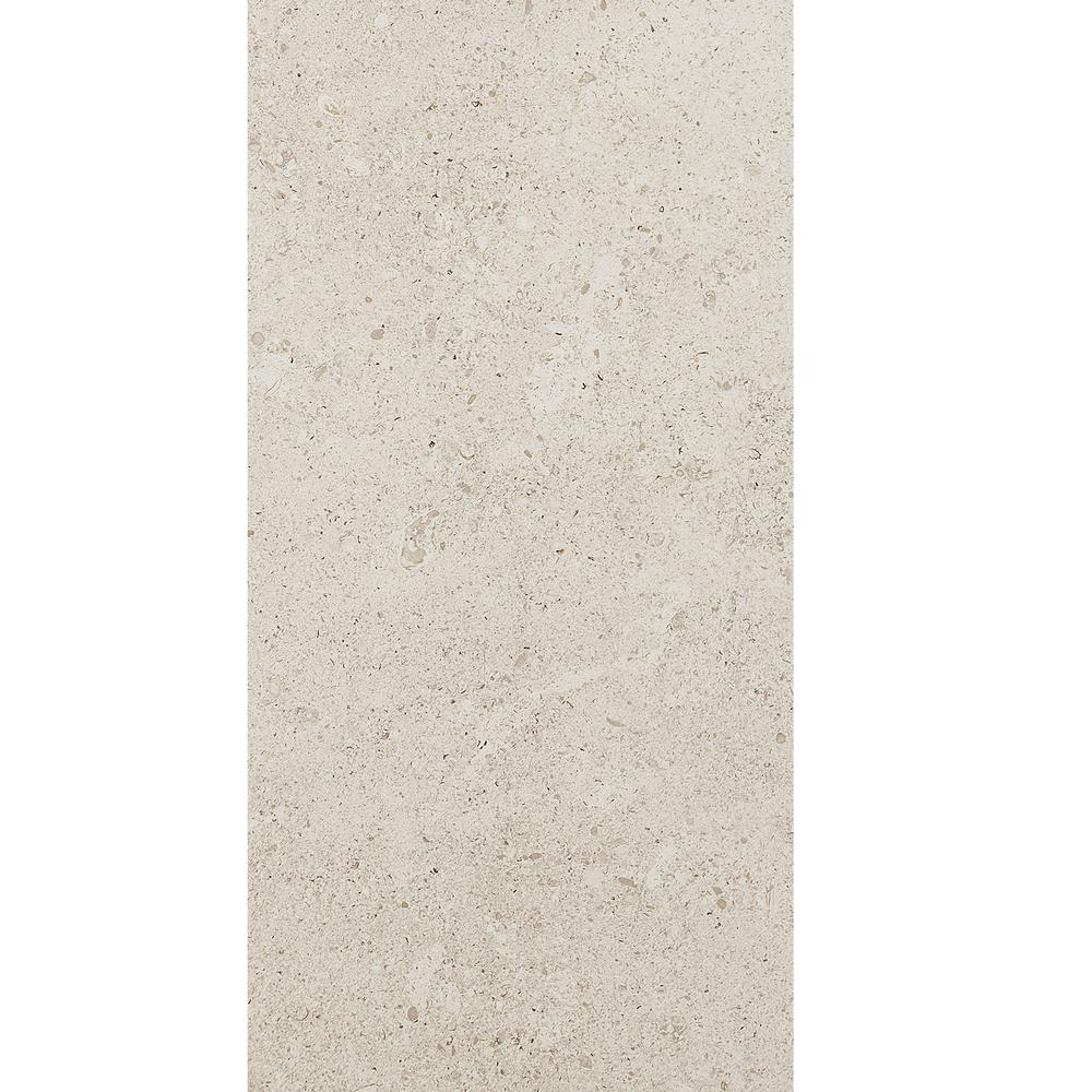 Adelaide White Textured 12 in. x 24 in. Color Body Porcelain