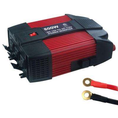 12-Volt DC to AC 800-Watt Power Inverter