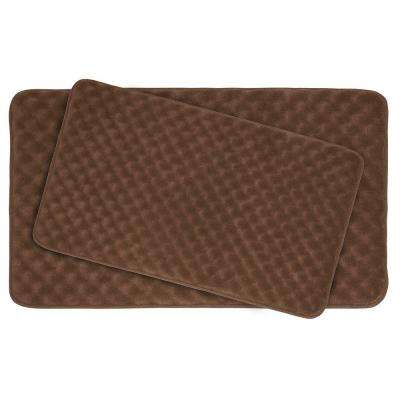 Massage Mocha Memory Foam 2-Piece Bath Mat Set