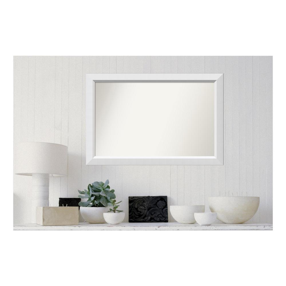 Amanti Art Choose Your Custom Size 24 in. x 36 in. Blanco White Wood ...