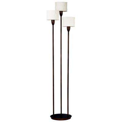 Crush 75 in. 3-Light Oil-Rubbed Bronze Torchiere