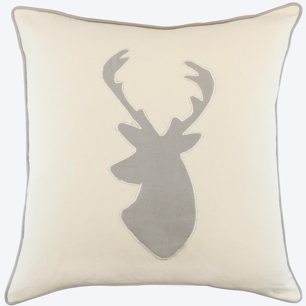 American Colors Appliqued Deer Pillow