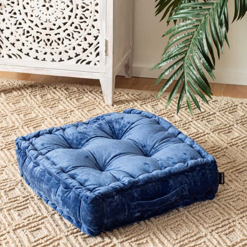 Belia Periwinkle Square Floor Pillow