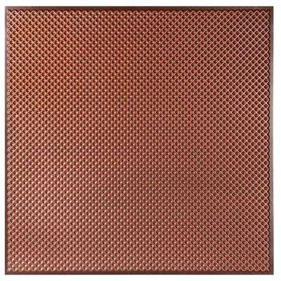 Kingsbridge 2 ft. x 2 ft. Lay-in or Glue-up Border Ceiling Tile in Antique Copper (48 sq. ft. / case)