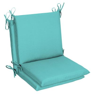 Belcourt 19 x 36 Sunbrella Canvas Aruba Mid Back Outdoor Dining Chair Cushion (2-Pack)