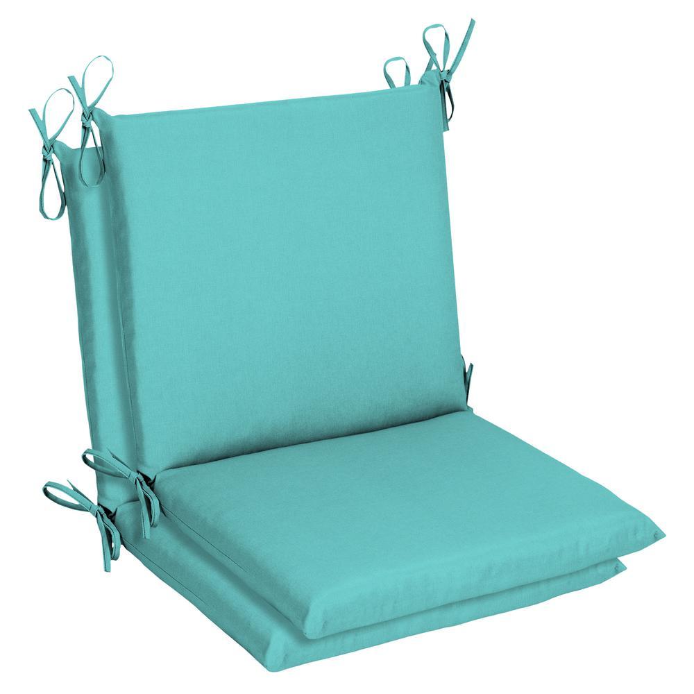 Sunbrella Canvas Aruba Outdoor Dining Chair Cushion (2 Pack)