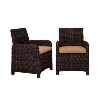 Northshore Patio Dining Chair with Toffee Cushions (2-Pack) -- CUSTOM