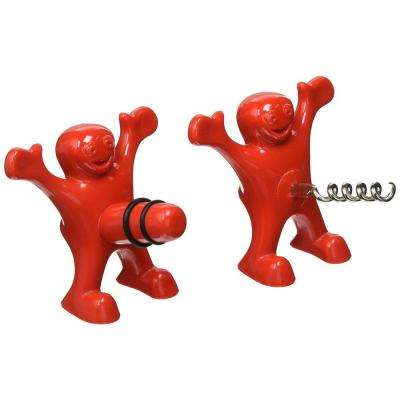 Sir Perky Wine Corkscrew/Bottle Stopper (2-Pack)
