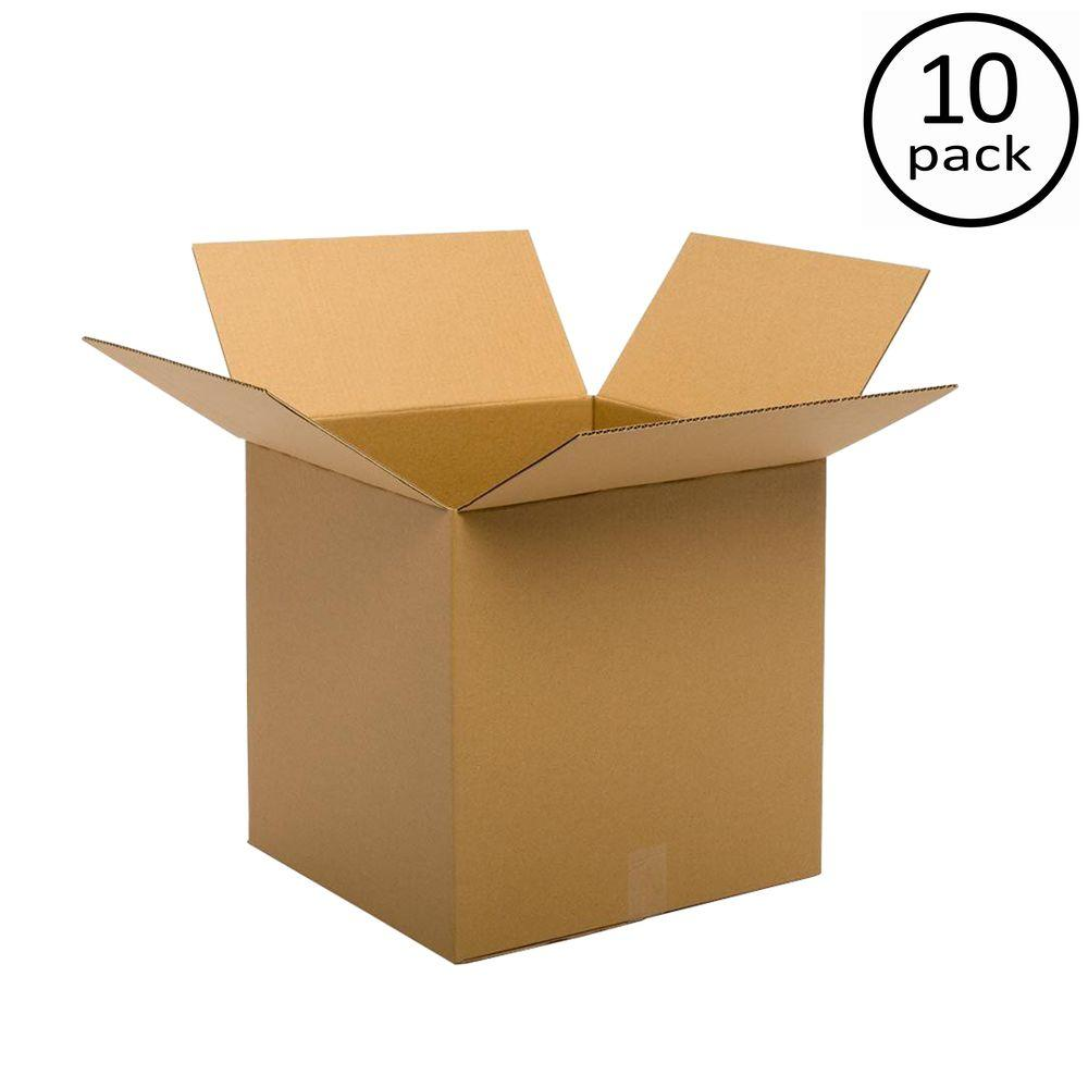 Plain Brown Box 20 in. x 20 in. x 20 in. 48 ECT Double Wall 10-Box Bundle