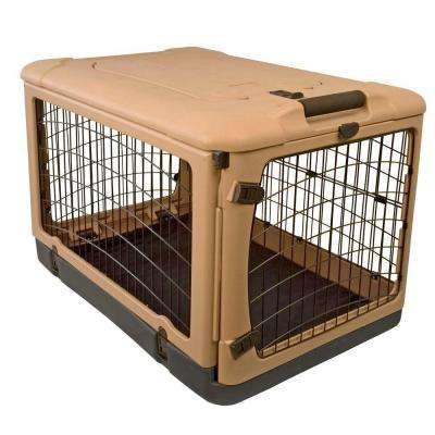 27 in. x 18.25 in. x 21.75 in. The Other Door Steel Crate