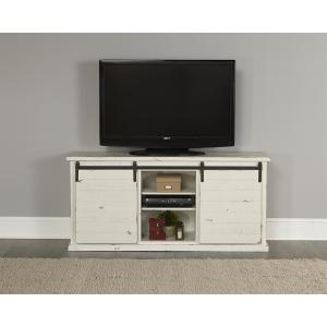 Huntington 64 in. Distressed White Entertainment Console