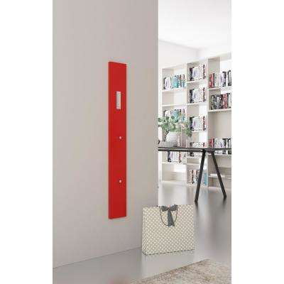Stone 45 in. H x 5.75 in. W x 1.75 in. D Glossy Red Modern Wall Mounted Coat Rack