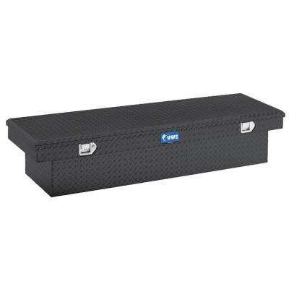 66 in. Aluminum Black Single Lid Crossover Tool Box