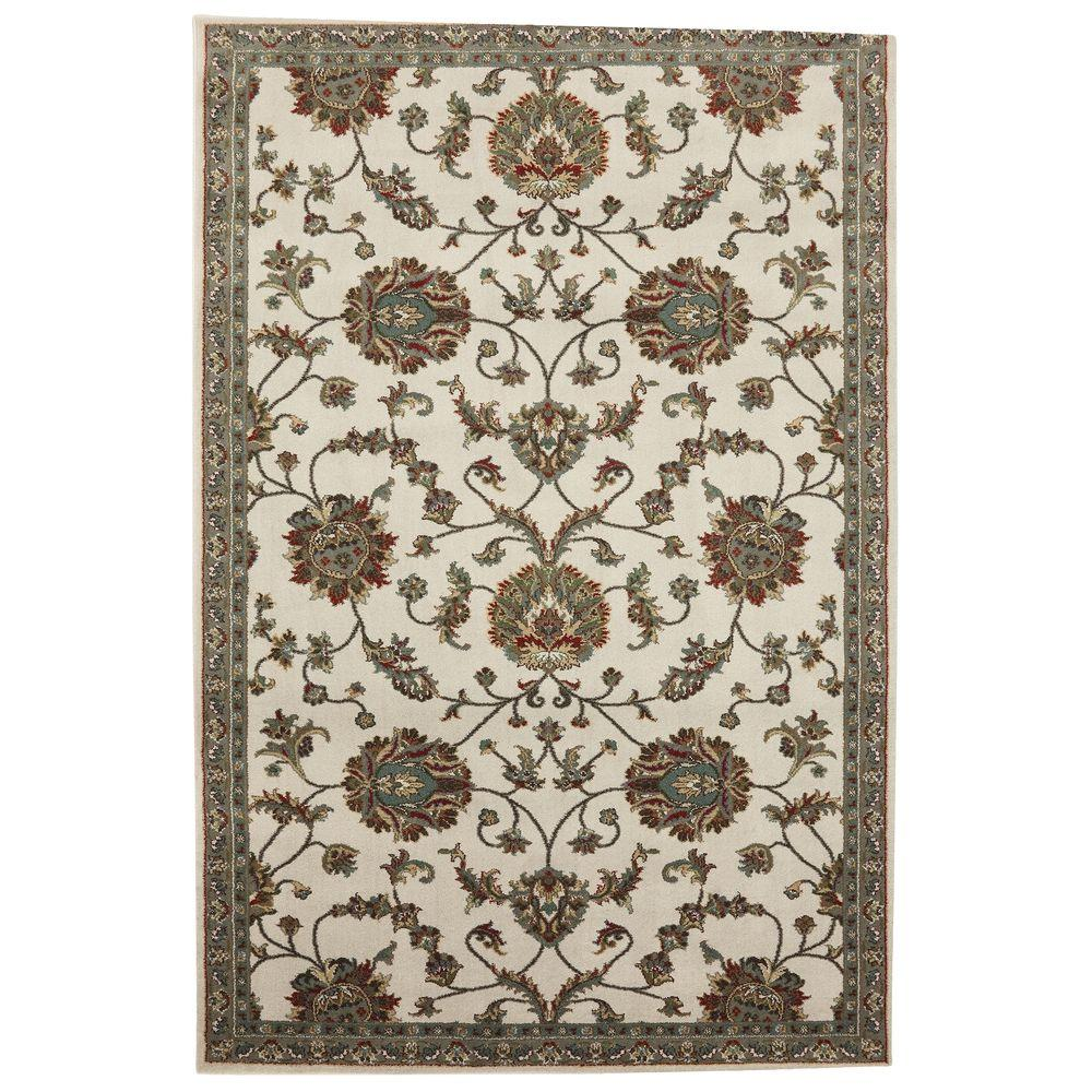 American Rug Craftsmen Oklahoma Rose Sand Storm 5 ft. 3 in. x 7 ft. 10 in. Area Rug