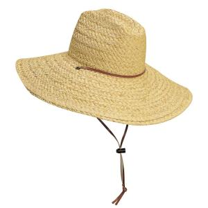 Men's Straw Hat in Brown-MS0001 - The Home Depot
