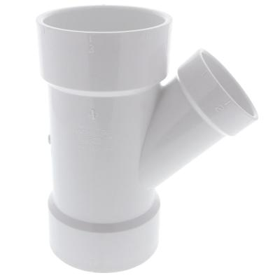 3 in. x 3 in. x 2 in. PVC DWV All Hub Wye Fitting