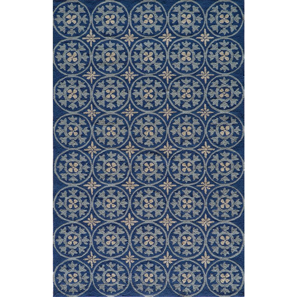 Momeni Veranda Blue 5 Ft X 8 Indoor Outdoor Area Rug