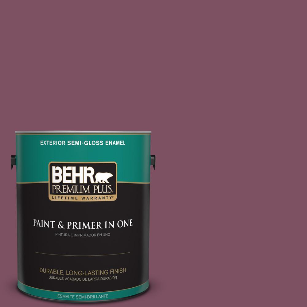 1 gal. #PPU1-19 Classic Berry Semi-Gloss Enamel Exterior Paint