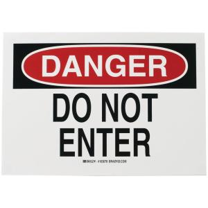 Click here to buy Brady 7 inch x 10 inch Plastic Danger Do Not Enter OSHA Safety Sign by Brady.