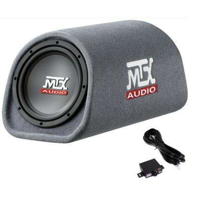 MTX AUDIO 8 in. 240-Watt Loaded Subwoofer Enclosure Amplified Tube Box Vented(Open Box)