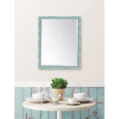 25 in. x 31 in. Framed French Blue Mirror