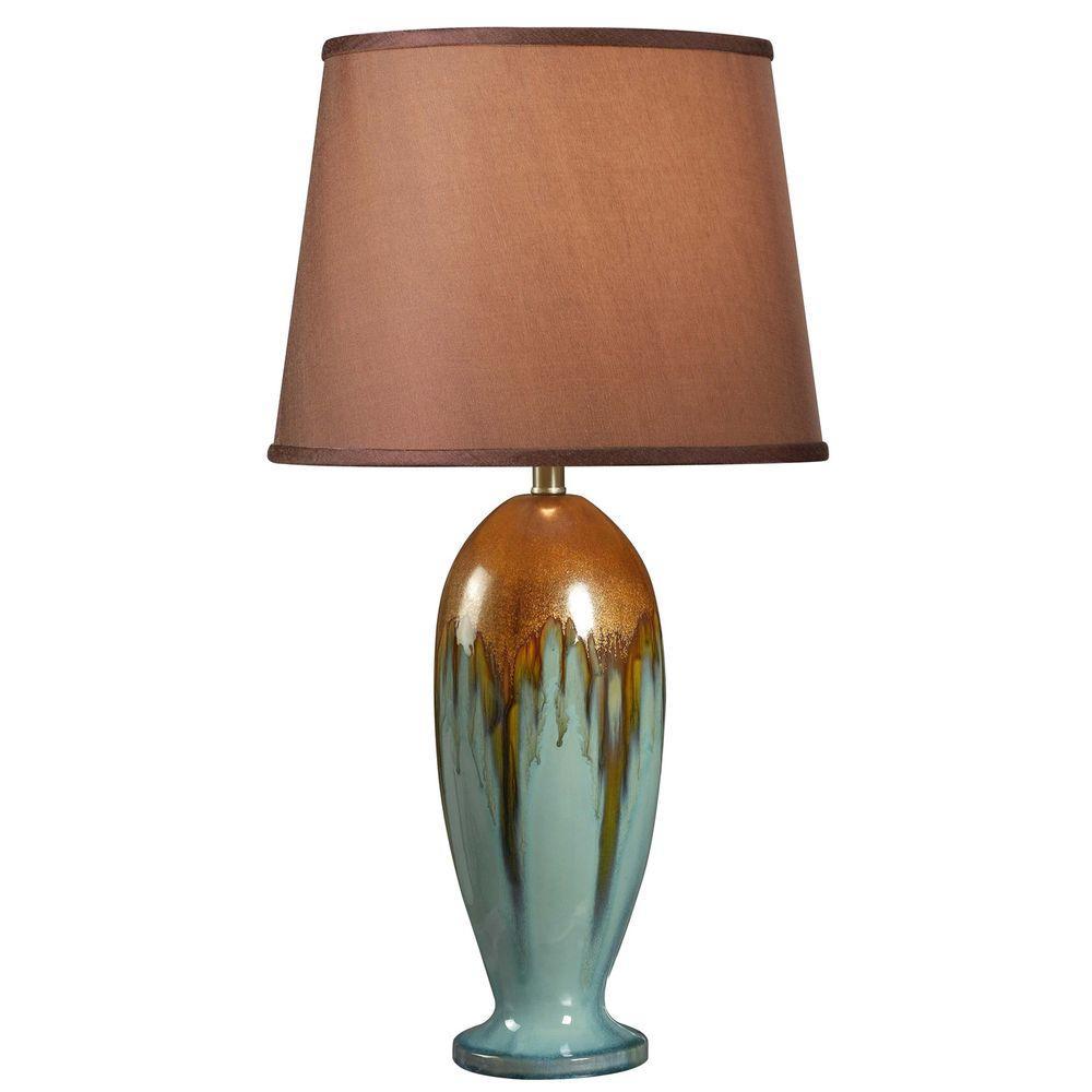 Kenroy Home Tucson 32 inch H Teal Ceramic Table Lamp by Kenroy Home