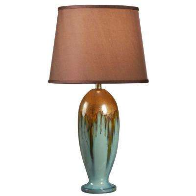 Tucson 32 in. H Teal Ceramic Table Lamp