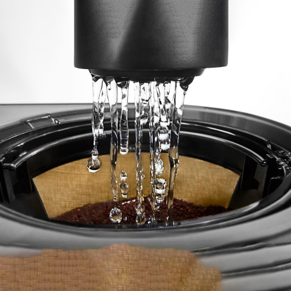 KitchenAid 12-Cup Matte Grey Drip Coffee Maker with Spiral ...