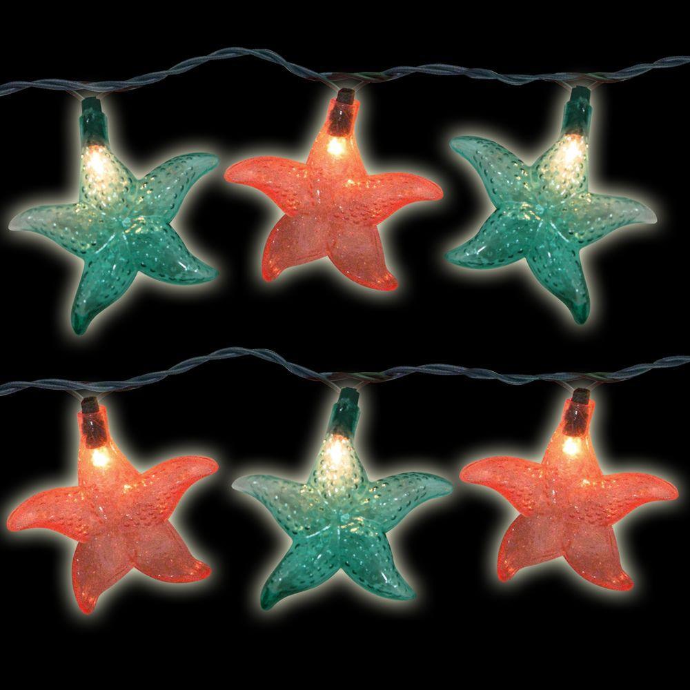 10-Light Multi-Color Starfish Light Set (Set of 2)