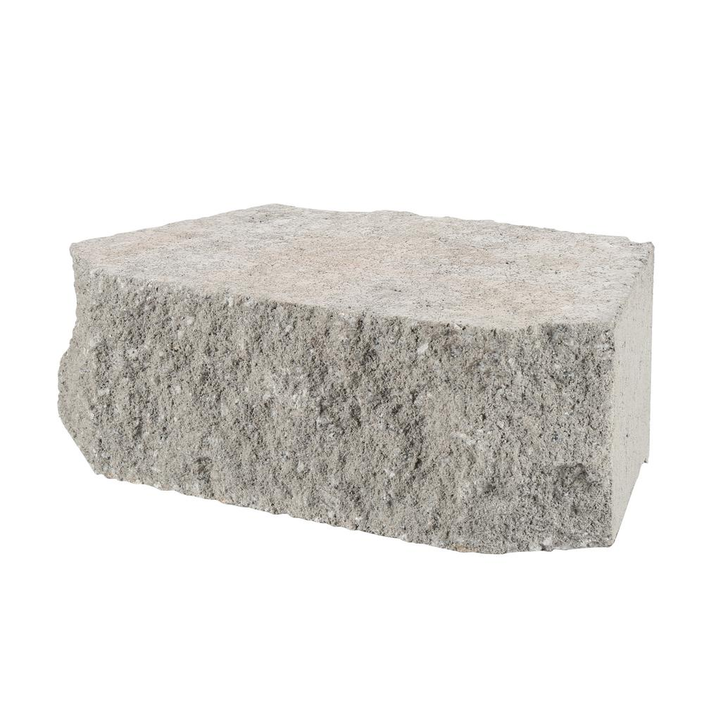 Pewter Concrete Retaining Wall Block - Retaining Wall Blocks - Wall Blocks - The Home Depot