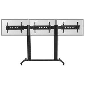 TygerClaw Mobile TV Stand for Three 30 inch - 60 inch Flat Panel TV by