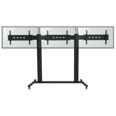 TygerClaw Mobile TV Stand for Three 30 in. - 60 in. Flat Panel TV