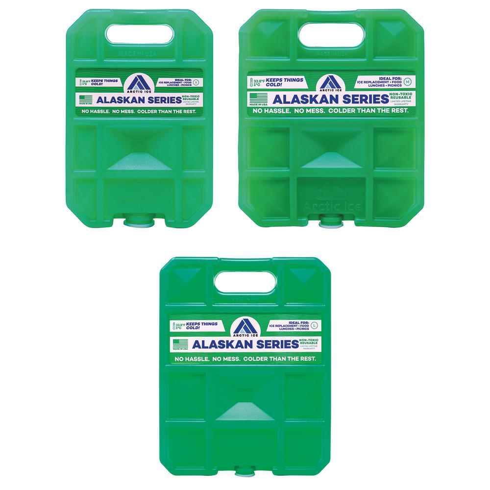 Alaskan 1.5 lbs., 2.5 lbs. and 5 lbs. Freezer Packs